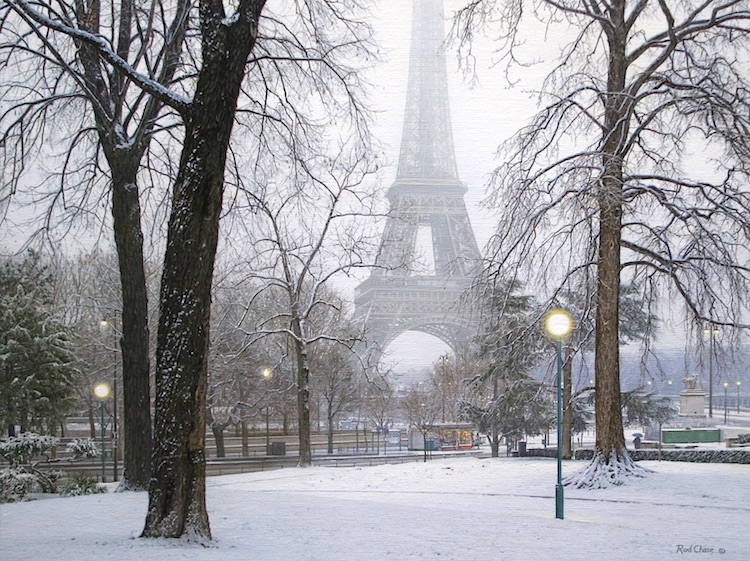 A Foggy Morning in Paris by Rod Chase
